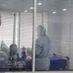 A patient is seen in the Intensive Care Unit (ICU) at Prince Moulay Abdellah hospital in Sale